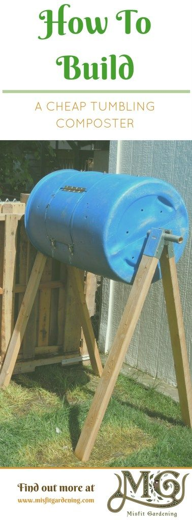 Learn how to turn a plastic drum into a tumbling composter for your backyard garden. Click to find out how to grow or pin it to save this post for later