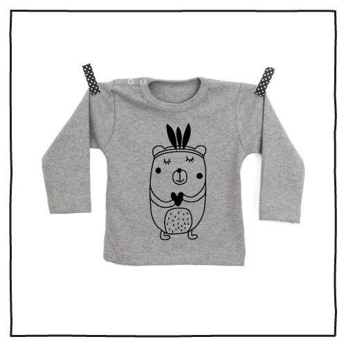 100% katoenen shirt met hippe opdruk Indianen Beer vanPauline door vanpauline op Etsy https://www.etsy.com/nl/listing/222886783/100-katoenen-shirt-met-hippe-opdruk