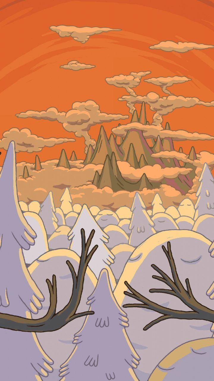 Adventure Time Tree Landscape Cartoon Tv Series 720x1280 Wallpaper Adventure Time Wallpaper Adventure Time Iphone Wallpaper Adventure Time Background