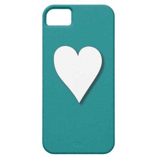 Teal Heart iPhone 5 Cases