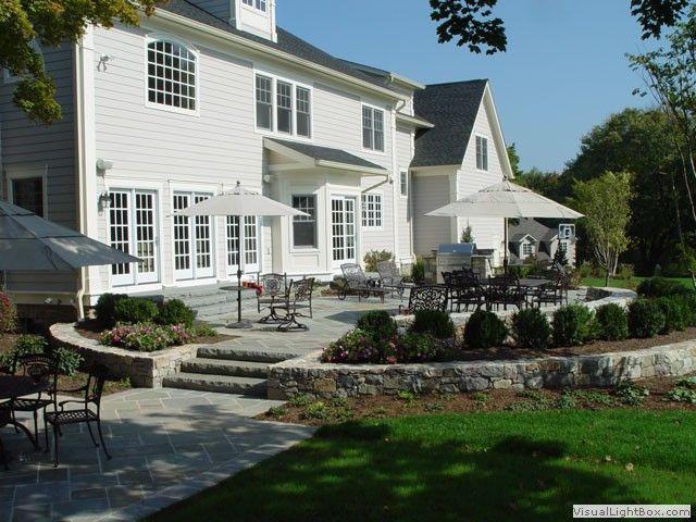 Bluestone Front Entrance | New Jersey Raised Bluestone Patio With Lower  Bluestone Sitting Area