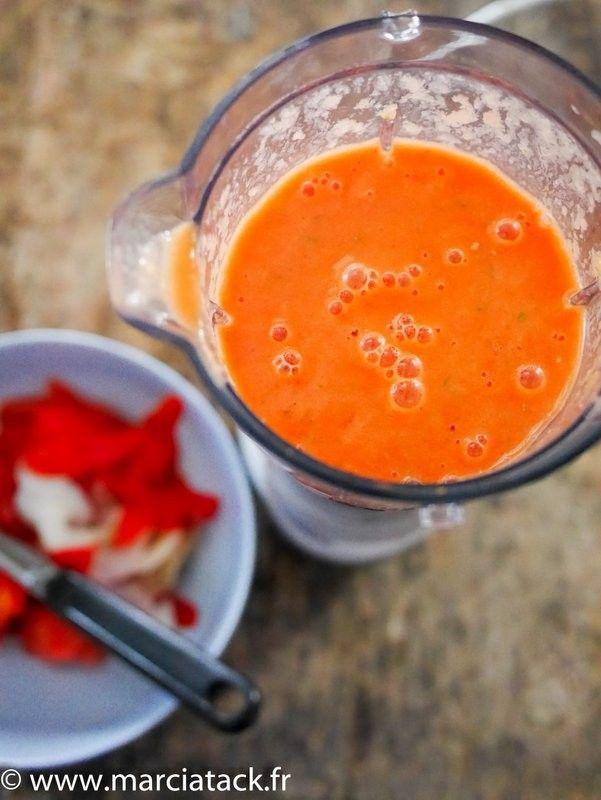 Gaspacho de tomate minute - Recette - Marciatack.fr : recettes faciles   Tout pour cuisiner !
