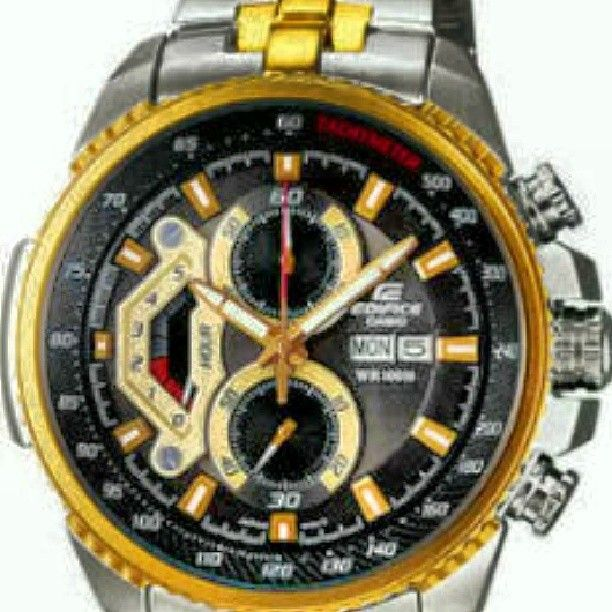 Casio Edifice Black & Golden Dial