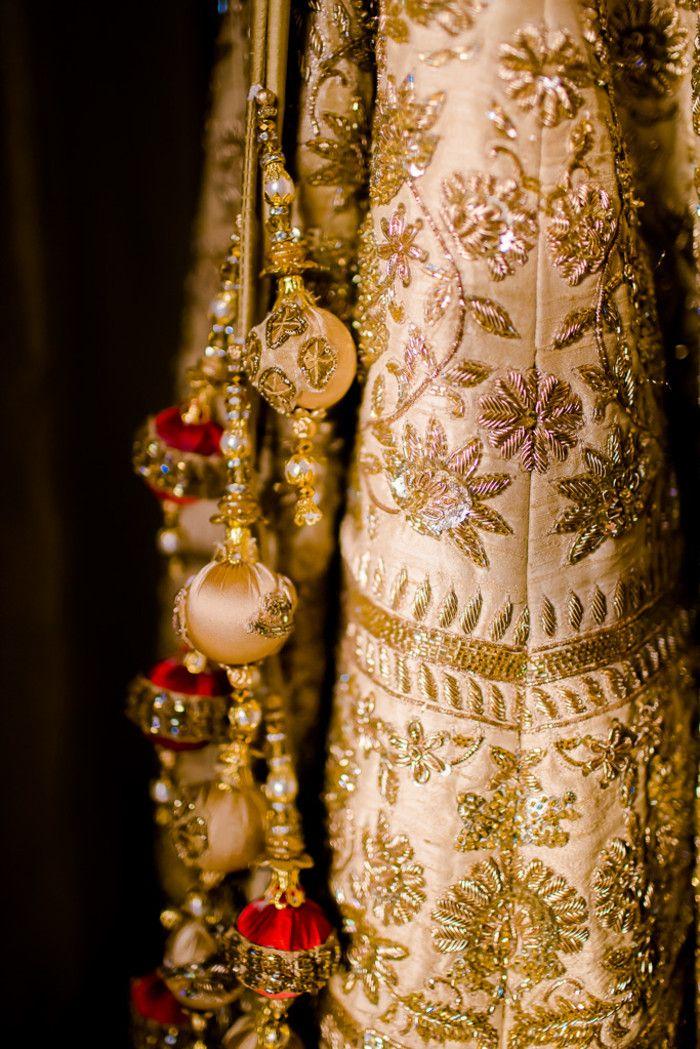 Bridal Wear - The Bridal Outfit! Photos, Hindu Culture, Beige Color, Candid Clicks, Lehenga Shots, Outfit Shots pictures, images, vendor credits - Kundan Mehandi Art, Dipak Colour Lab Pvt Ltd, Mahima Bhatia Photography, Asiana Couture, Jasmeet Kapany Hair and Makeup, WeddingPlz