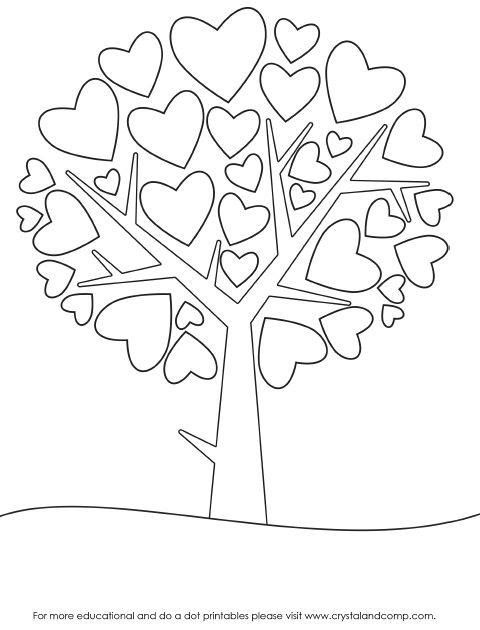 I think this would be awesome enlarged to quilt size ... Tree of Love!!