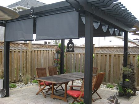 Pergola: Retractable, Wavy Shade Cloth