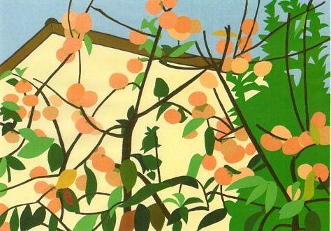 すずなりの柿の木。