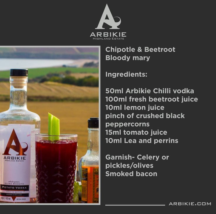 Arbikie Chipotle & Beetroot Bloody Mary