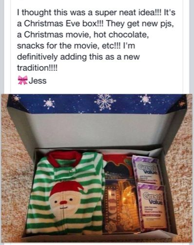 Christmas Eve box! Oh my gosh, I just love this idea!! I am SO doing this for my grandchildren starting this year for my new Grandson. So excited!!