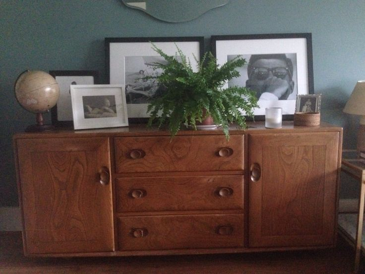 My Ercol Sideboard Wall Painted In Oval Room Blue Farrow Ball