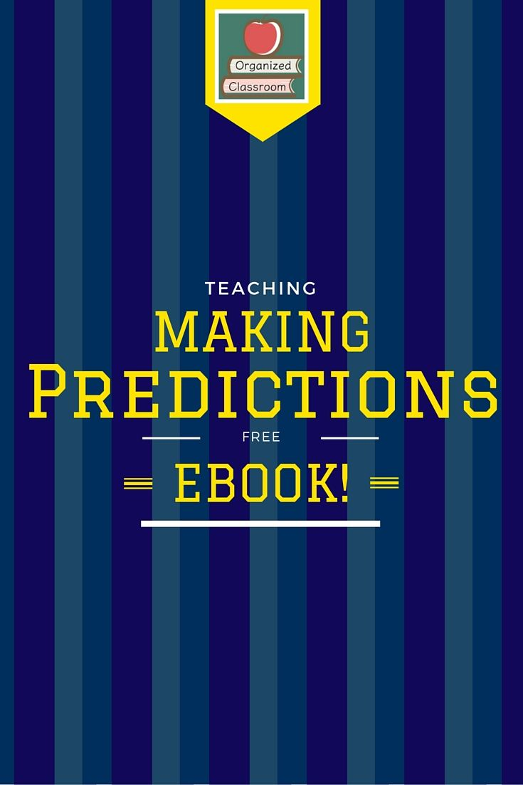 Our Collaboration Wednesday question had to do with ideas for how to teach making predictions and inferences. Here is a free ebook with all the ideas!