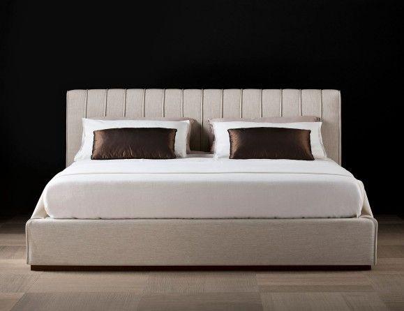 Nella Vetrina Tallin Luxury Italian Storage Bed Upholstered in White Velvet