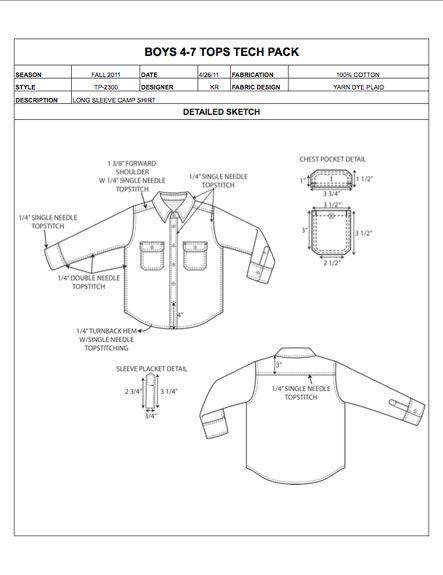 Childrens Design Detail Sheet Sample