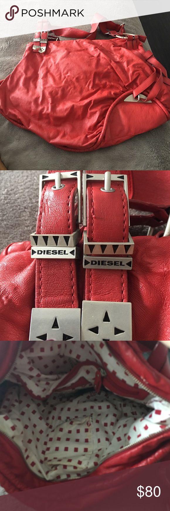 Large Red Diesel Handbag Gently used. Large Bag. Non Smoking house Diesel Bags Shoulder Bags