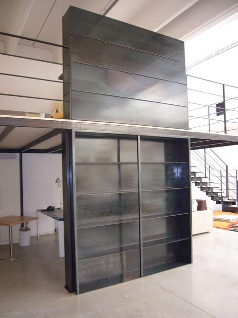 Progettazione e realizzazione scala e soppalco nuovo negozio di DesignStore, San Donà di Piave, Venezia « Giovanni Casellato – design