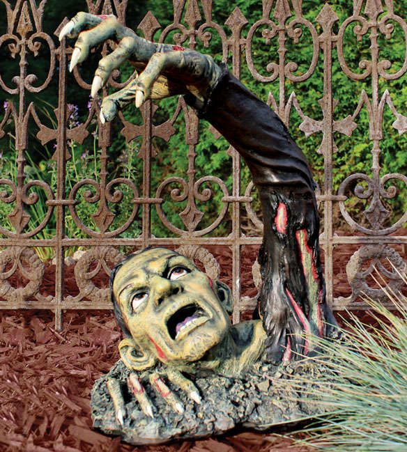 'Outbreak of the Undead' is a Frightening Outdoor Halloween Decoration trendhunter.com
