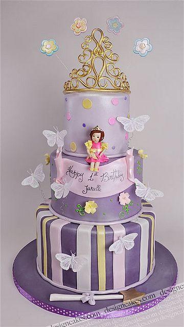 Purple Princess Tiara Cake