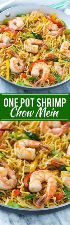 Shrimp Chow Mein (On Shrimp Chow Mein (One Pot Meal) - This...  Shrimp Chow Mein (On Shrimp Chow Mein (One Pot Meal) - This recipe for shrimp chow mein is a quick and easy one pot meal with plenty of stir fried shrimp and vegetables tossed with noodles and a simple sauce. Recipe : http://ift.tt/1hGiZgA And @ItsNutella  http://ift.tt/2v8iUYW