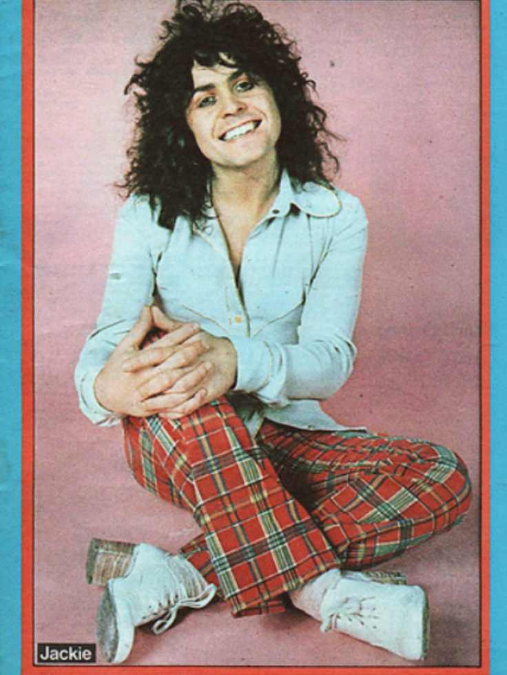 Marc Bolan in Jackie Mag, my Sis had a few posters of him.