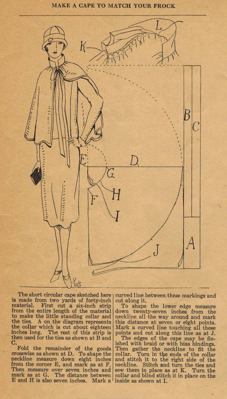 The Midvale Cottage Post: Home Sewing Tips from the 1920s - A Short Cape to Match Your Frock!