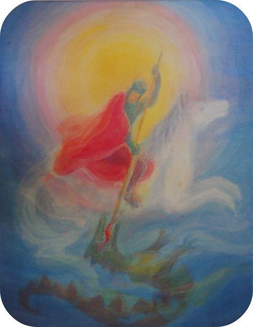 Waldorf ~ Michaelmas ~ Saint George and the Dragon ~ picture