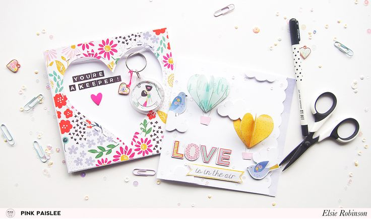You're guaranteed to make your loved ones smile, with these simple but striking techniques using hearts on your cards.