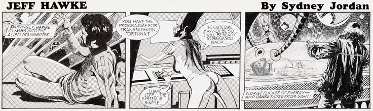 Sydney Jordan Jeff Hawke Daily Comic Strip #H6565 Original Art | Lot #11079…