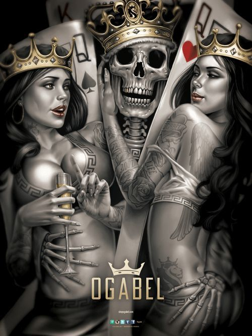 King Skull ♦ Queens of Cards - Google Search