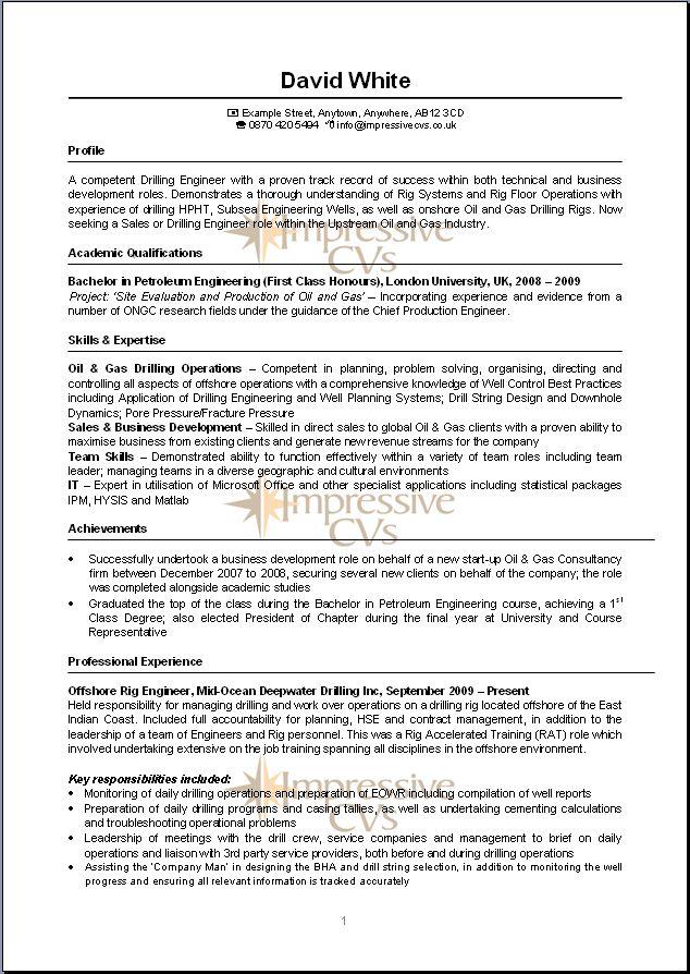 Charming Offshore Engineering Resume Ideas - Resume Ideas - bayaar ...