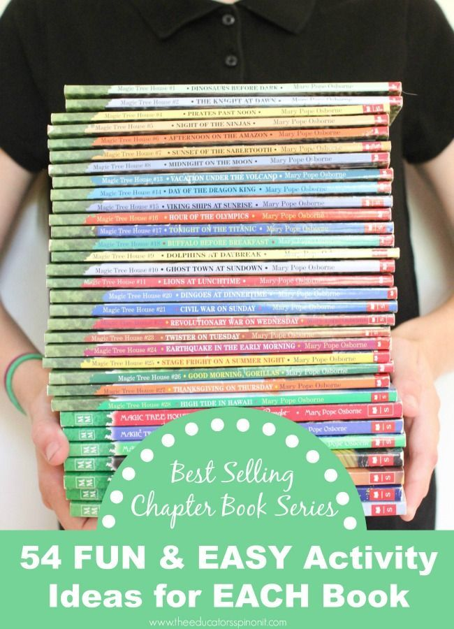 Magic Tree House Chapter Book Series and Activity List. 54 Fun and Easy Activity Ideas for Each Book in the Series!
