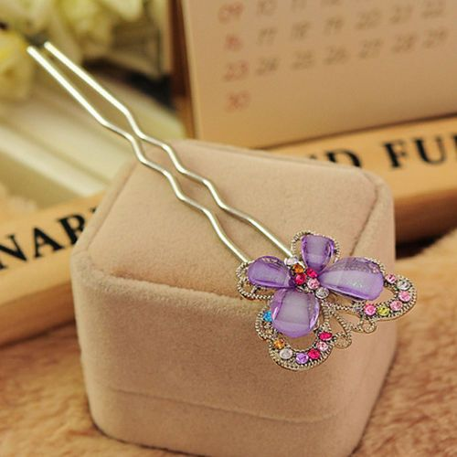 Sweet Butterfly Crystal Bridal Hair Pins Jewelry