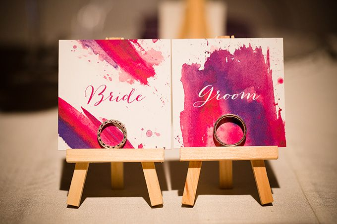 Museum Wedding place cards on easels. I absolutely love this idea.