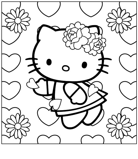 86 best Coloring  Hello Kitty images on Pinterest  Coloring book
