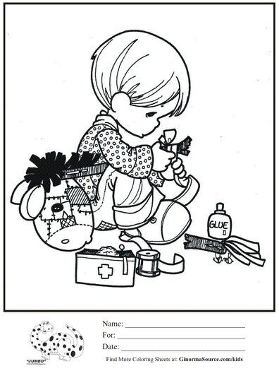doctor precious moments coloring pages - Precious Moments Coloring Book