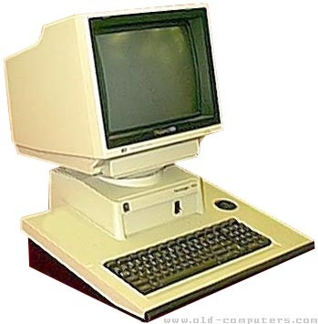 computer 1980s. We had a computer almost like this...keyboard was all one color. The screen was orange and green on a black background...IBM