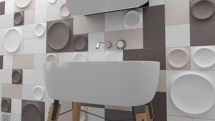 Moon / Moon L / Liso / Liso L / Canale / Canale L. 3D ceramic surfaces. Tile. WOW #unexpectedsurfaces