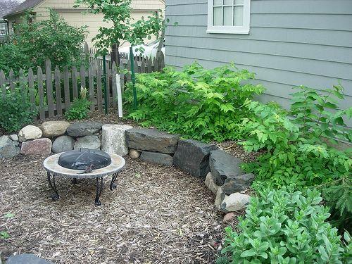 Best Mulch Patio Images On Pinterest Outdoor Ideas - Mulch patio ideas