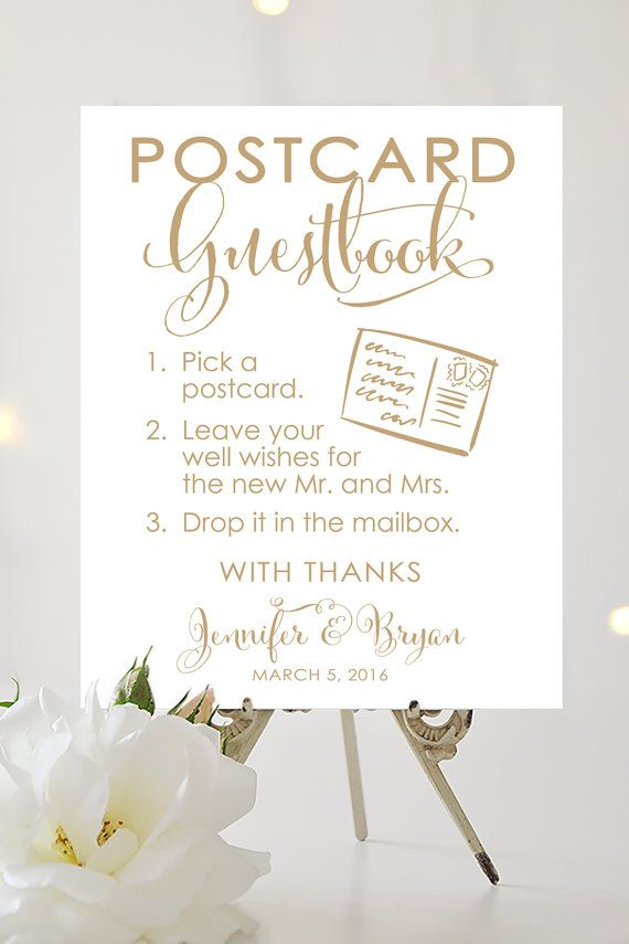 Postcard Guestbook Sign  Various Sizes  by CharmingEndeavours