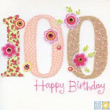 View item: Blue Eyed Sun X45 Vintage 100th Birthday Card