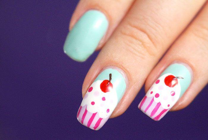 Des ongles à croquer avec le nail-art cupcake