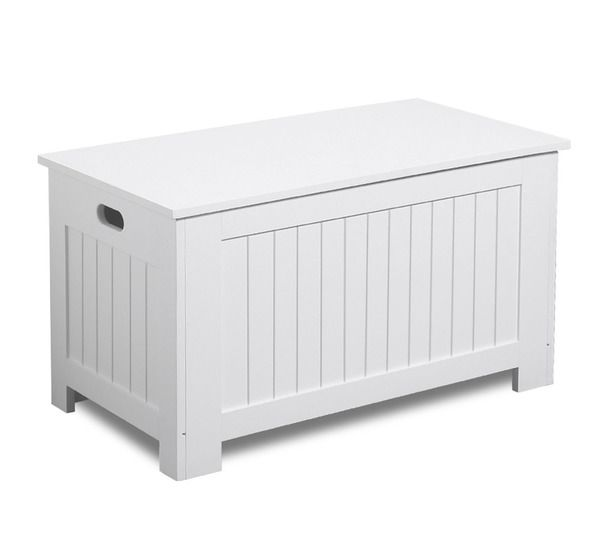 white, Toy storage with wheels