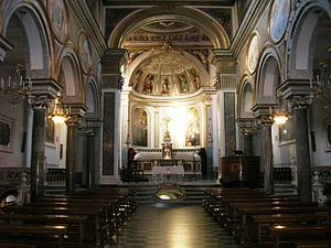 The Saint Antonino Basilica Sorrento - Internal Side
