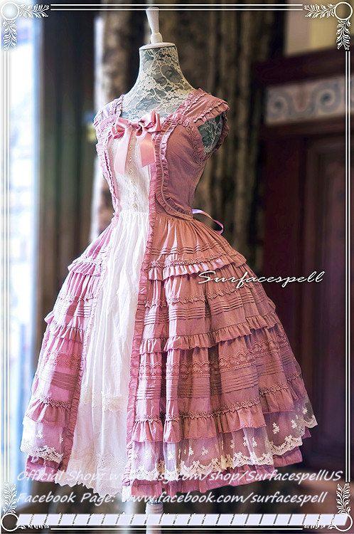 "Surfacespell ""Hyacinth"" Layered Look JSK, Lilac. Classic Lolita Dress"