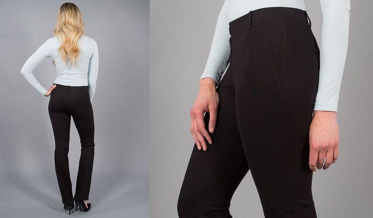 Betabrand.com Dress Yoga Pants (Straight-Leg)