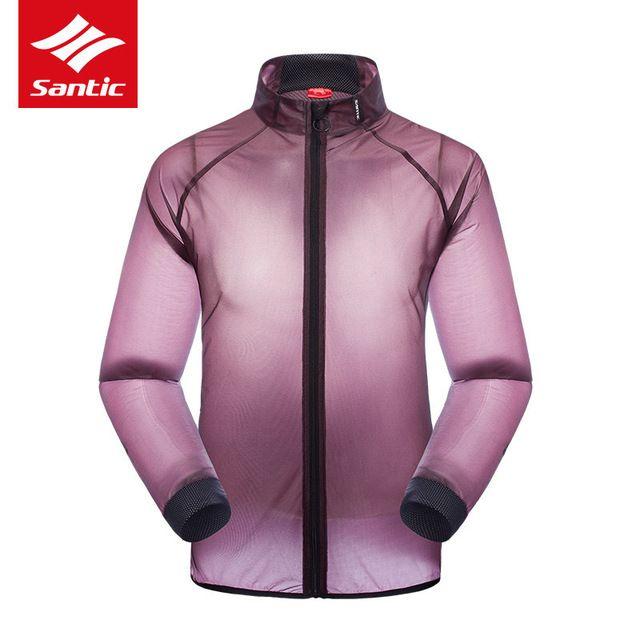 Santic hombres mujeres chaqueta impermeable ciclismo mtb de la bici de protección uv chaqueta de lluvia impermeable de manga larga cycling clothing 2017