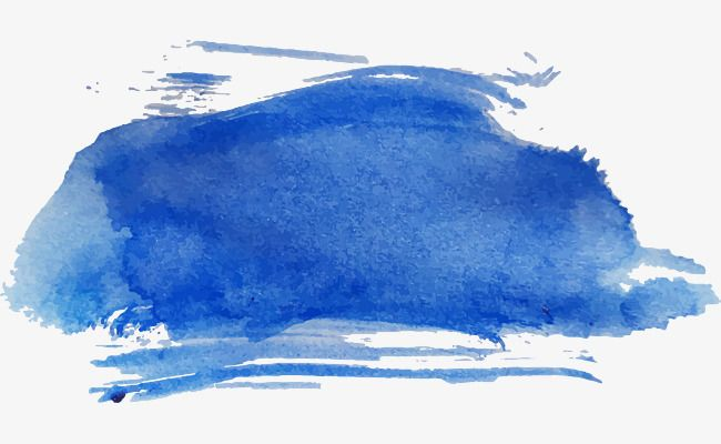 Dark Blue Watercolor Brush Brush Effect Vector Material