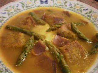 Mi cocina: SOPA DE ESPARRAGOS TRIGUEROS