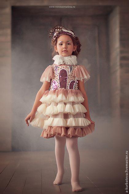 Детские танцевальные костюмы ручной работы. Ярмарка Мастеров - ручная работа. Купить Платье для маленькой балерины.. Handmade. Кремовый, девочка