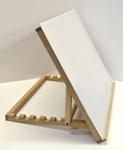 Large Easel with Plexiglass in the window, mounted