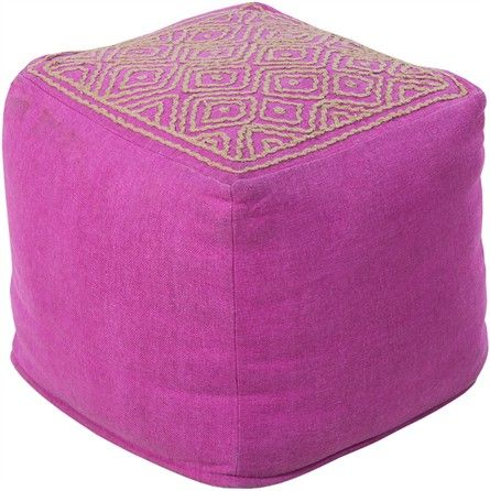 The Top Stitch Pouf in Plum from Surya is the perfect decor accessory to add to any child's nursery, bedroom or playroom. These multi function decor items will not only add a spark of visual interest and color, they are kid friendly and fun to play with!